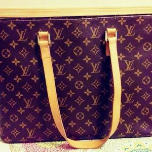 Louis Vuitton Luco Monogram Leather Brown Canvas